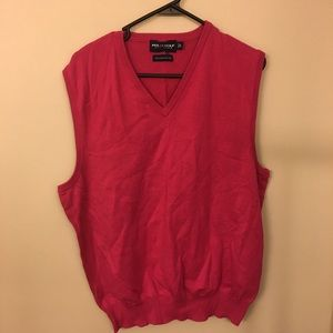 Pink Polo Golf Sweater Vest Size Large
